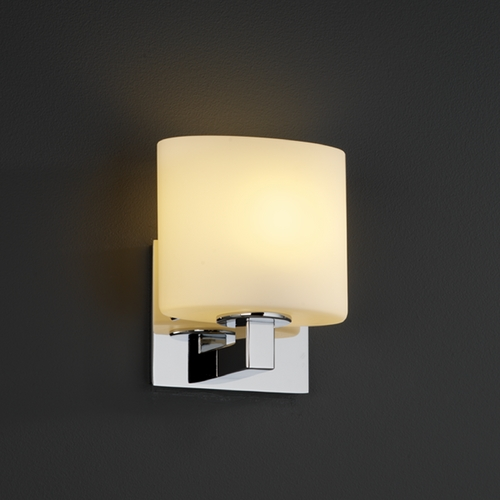 Justice Design Group Justice Design Group Fusion Collection Sconce FSN-8931-30-OPAL-CROM