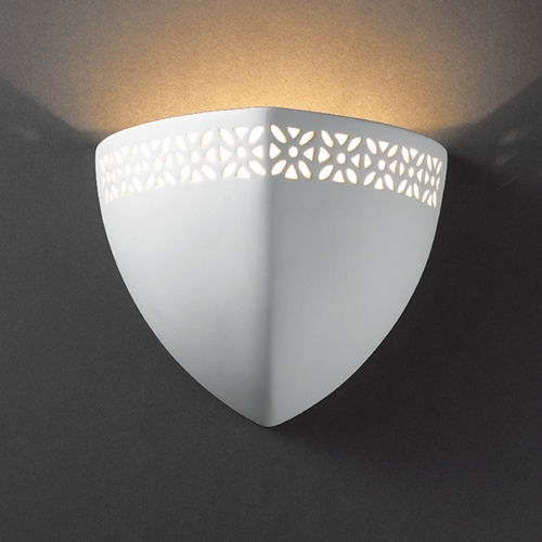Justice Design Group Sconce Wall Light in Bisque Finish CER-7810-BIS