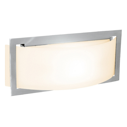 Access Lighting Access Lighting Argon Brushed Steel LED Sconce 62104LED-BS/OPL