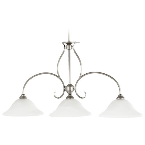 Quorum Lighting Quorum Lighting Spencer Classic Nickel Island Light 6510-3-64