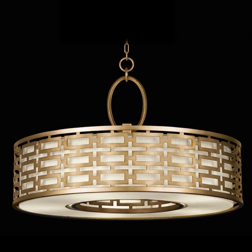 Fine Art Lamps Fine Art Lamps Allegretto Gold Burnished Gold Leaf with Subtle Brown Highlights Pendant Light with D 787640-2GU