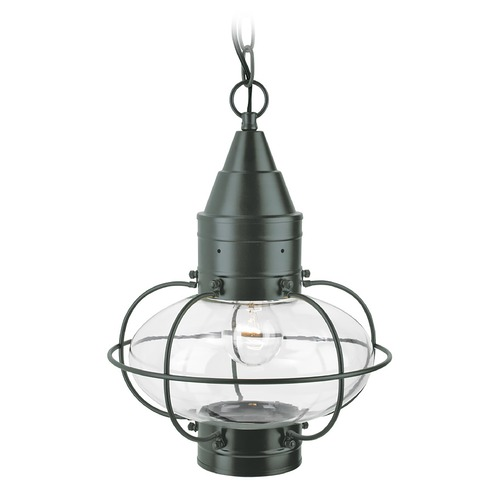 Norwell Lighting Norwell Lighting Classic Onion Gun Metal Outdoor Hanging Light 1508-GM-CL