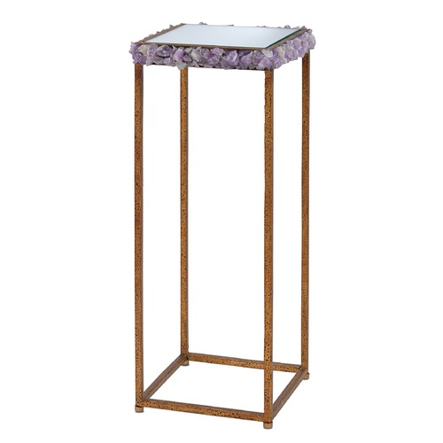 Currey and Company Lighting Currey and Company Princess Texturedgold / Amethyst Accent Table 4000-0009
