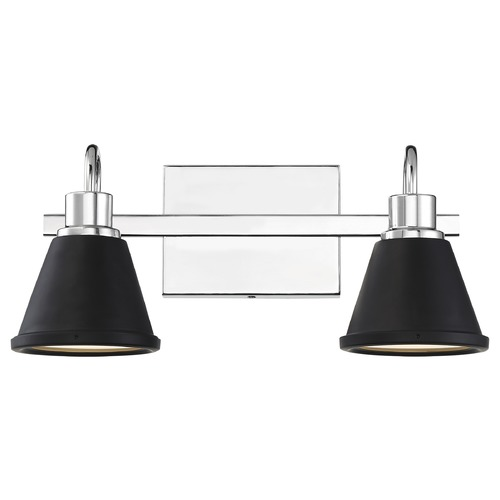 Nuvo Lighting Satco Lighting Bette Polished Nickel / Matte Black LED Bathroom Light 62/1472