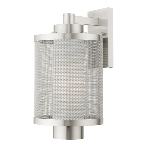 Livex Lighting Livex Lighting Outdoor Wall Light in Brushed Nickel 20683-91