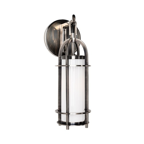 Hudson Valley Lighting Modern Sconce with White Glass in Historic Nickel Finish 8501-HN