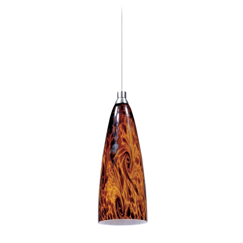 ET2 Lighting Modern Low Voltage Mini-Pendant Light with Amber Glass E94443-102SN