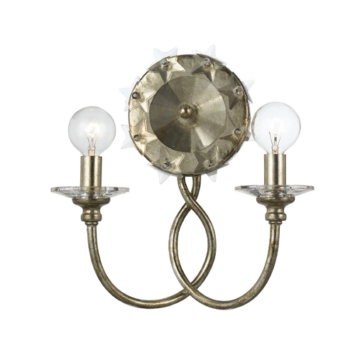 Crystorama Lighting Sconce Wall Light in Antique Silver Finish 442-SA