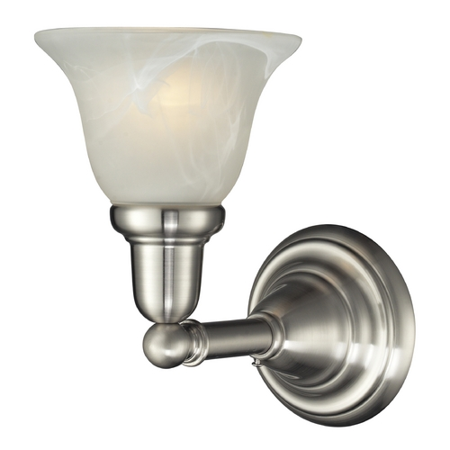 Elk Lighting Sconce Wall Light with White Glass in Satin Nickel Finish 84000/1
