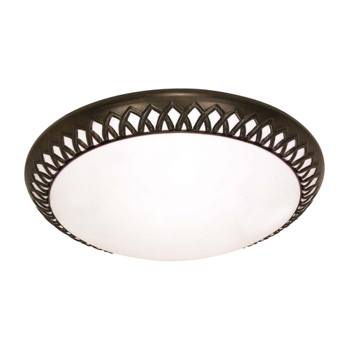 Nuvo Lighting Flushmount Light with White in Old Bronze Finish 60/926