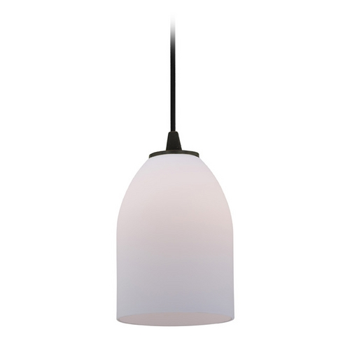 Access Lighting Access Lighting Sydney Inari Silk Oil Rubbed Bronze Mini-Pendant with Oblong Shade 28018-1C-ORB/OPL