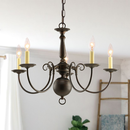 Progress Lighting Progress Chandelier in Antique Bronze Finish P4346-20