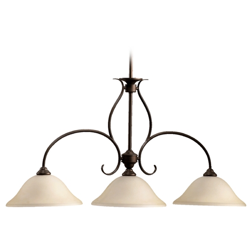Quorum Lighting Quorum Lighting Spencer Oiled Bronze Island Light 6510-3-86