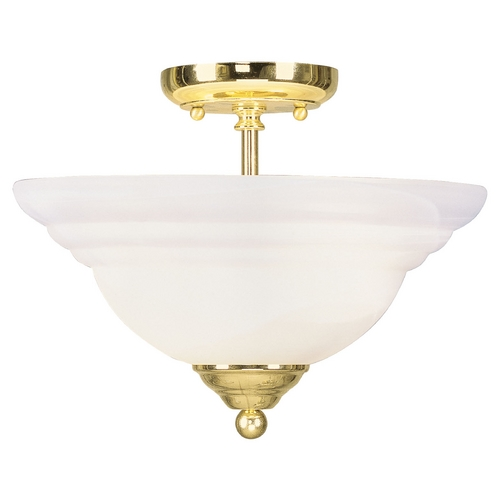 Livex Lighting Livex Lighting North Port Polished Brass Semi-Flushmount Light 4259-02