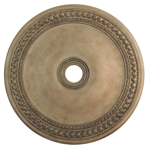 Livex Lighting Livex Lighting Wingate Hand Painted Antique Silver Leaf Ceiling Medallion 82077-73