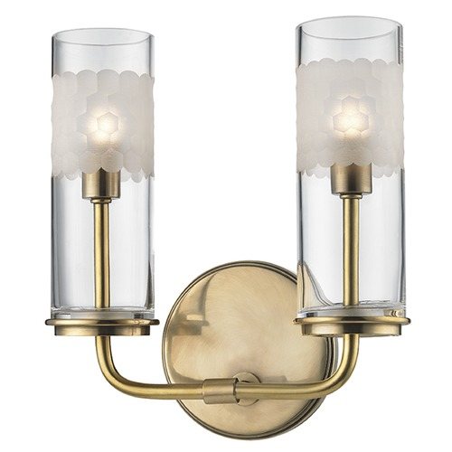 Hudson Valley Lighting Wentworth ADA 2 Light Bathroom Light - Aged Brass 3902-AGB