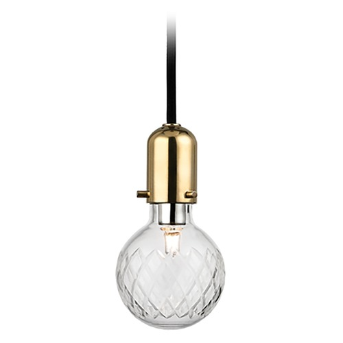 Hudson Valley Lighting Hudson Valley Lighting Marlow Aged Brass Mini-Pendant Light with Globe Shade 1100-AGB