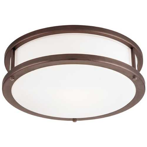 Access Lighting Modern Flushmount Light with White Glass in Bronze Finish 50081-BRZ/OPL