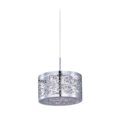 ET2 Lighting Modern Low Voltage Mini-Pendant Light with Silver Cage Shade E94445-10PC