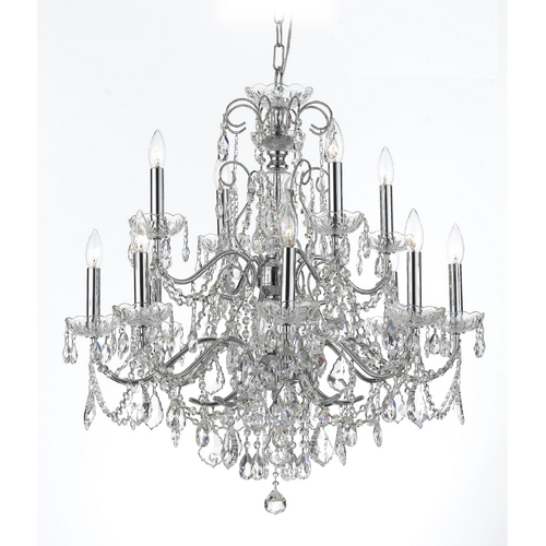 Crystorama Lighting Crystal Chandelier in Polished Chrome Finish 3228-CH-CL-S