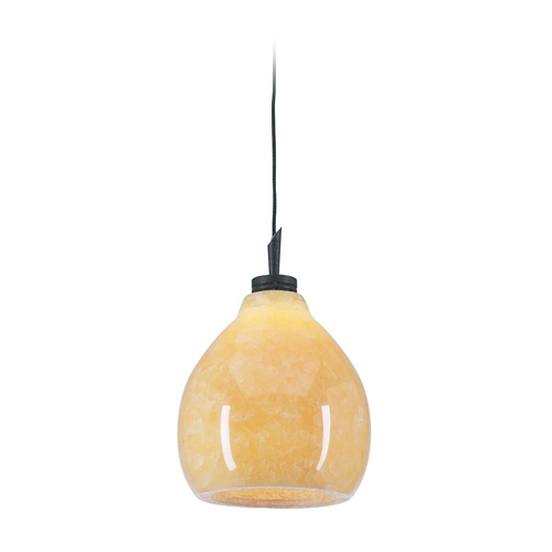 PLC Lighting Modern Mini-Pendant Light with Brown Glass 284 ORB