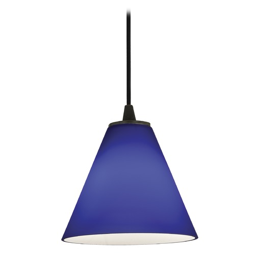 Access Lighting Access Lighting Sydney Inari Silk Oil Rubbed Bronze Mini-Pendant with Conical Shade 28004-1C-ORB/COB