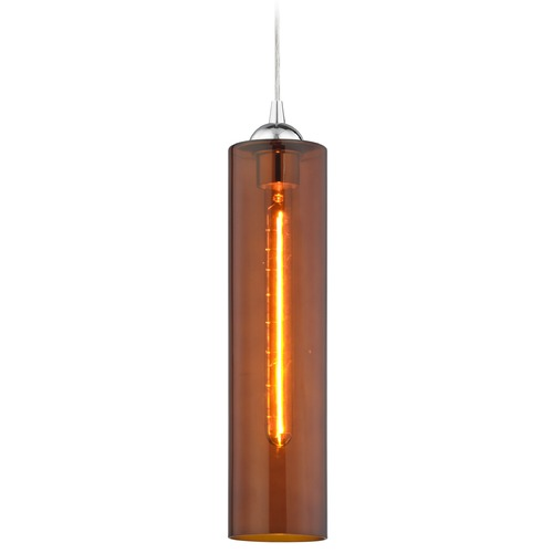Design Classics Lighting Gala Fuse Chrome Mini-Pendant Light with Cylindrical Shade 582-26 GL1651C