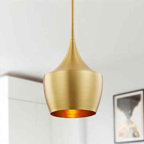 Design Classics Lighting Design Classics Helenna Satin Brass Pendant Light 1906-12