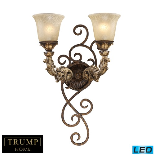 Elk Lighting Regency 2 Light LED Wall Sconce In Burnt Bronze And Gold Leaf 2155/2-LED
