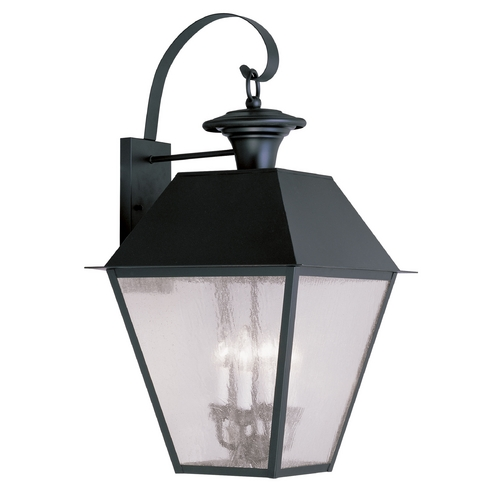 Livex Lighting Livex Lighting Mansfield Black Outdoor Wall Light 2172-04