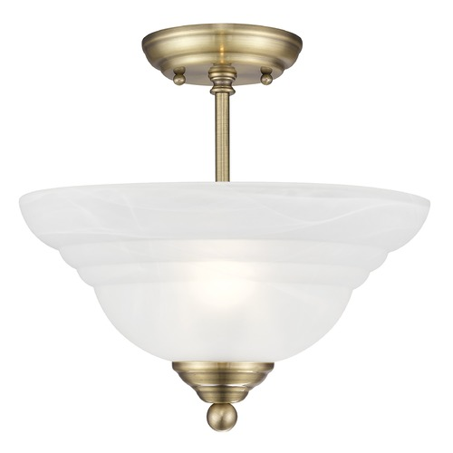 Livex Lighting Livex Lighting North Port Antique Brass Semi-Flushmount Light 4259-01