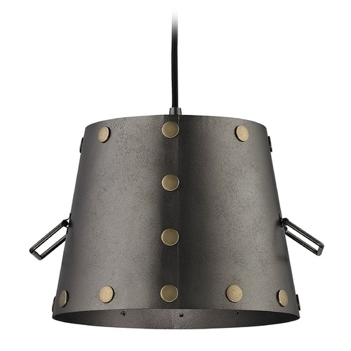 Elk Lighting Elk Lighting Ephrata Weathered Iron Pendant Light with Empire Shade 14300/1