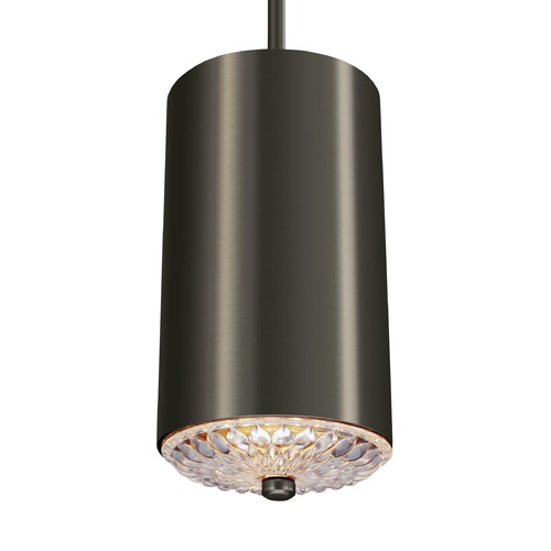 Feiss Lighting Feiss Botanic Aged Pewter Mini-Pendant Light with Cylindrical Shade P1371AGP