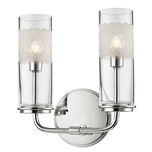 Hudson Valley Lighting Wentworth ADA 2 Light Bathroom Light in ponished Nickel 3902-PN