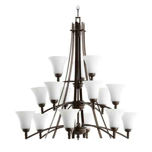 Quorum Lighting Quorum Lighting Aspen Oiled Bronze Chandelier 6177-15186