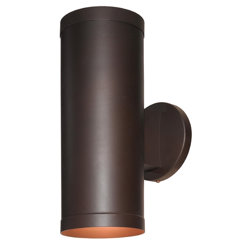 Access Lighting Outdoor Wall Light with Cylinder Shade in Bronze Finish 20364-BRZ/CLR