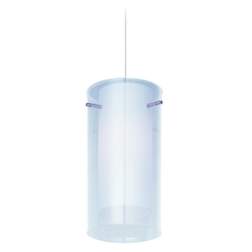 ET2 Lighting Modern Low Voltage Mini-Pendant Light with White Glass E94444-10SN