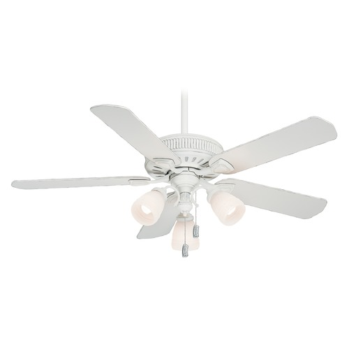 Casablanca Fan Co Casablanca Fan Ainsworth Gallery Cottage White Ceiling Fan with Light 54005