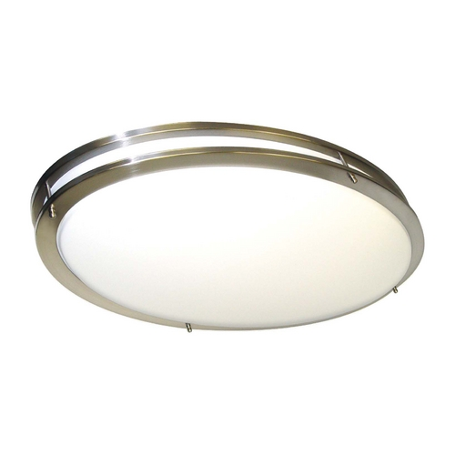 Nuvo Lighting Flushmount Light with White in Brushed Nickel Finish 60/998