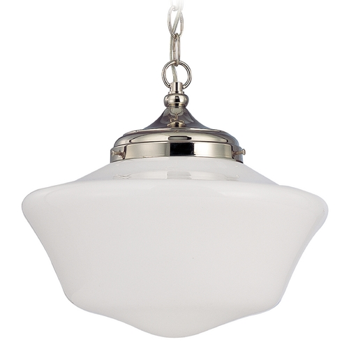 Design Classics Lighting 14-Inch Period Lighting Schoolhouse Pendant Light with Chain FA6-15 / GA14 / A-15