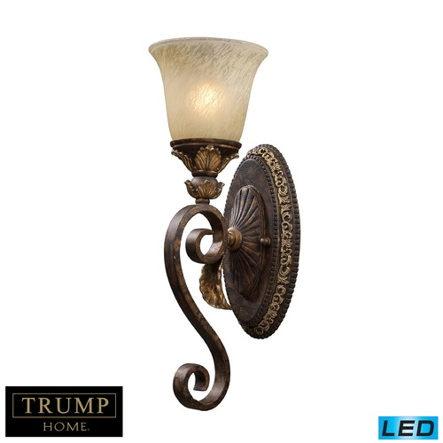 Elk Lighting Regency 1 Light LED Vanity In Burnt Bronze And Gold Leaf 2150/1-LED