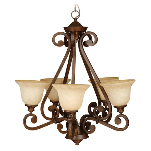 Craftmade Lighting Craftmade Toscana Peruvian Bronze Chandelier 9128PR5