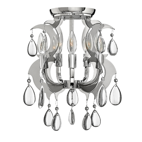 Frederick Ramond Semi-Flushmount Light in Polished Stainless Steel Finish FR43359PSS