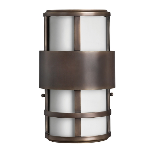 Hinkley Contemporary / Modern Outdoor Wall Light Bronze Saturn by Hinkley 1908MT