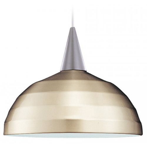 WAC Lighting Brushed Nickel Bowl / Dome Lamp Shade with Lamp Shade Assembly PLD-G404-BN