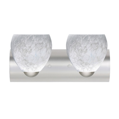 Besa Lighting Besa Lighting Bolla Satin Nickel LED Bathroom Light 2WZ-412219-LED-SN