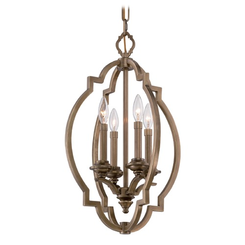 Metropolitan Lighting Metropolitan Leichester Aged Brass Pendant Light N6943-575