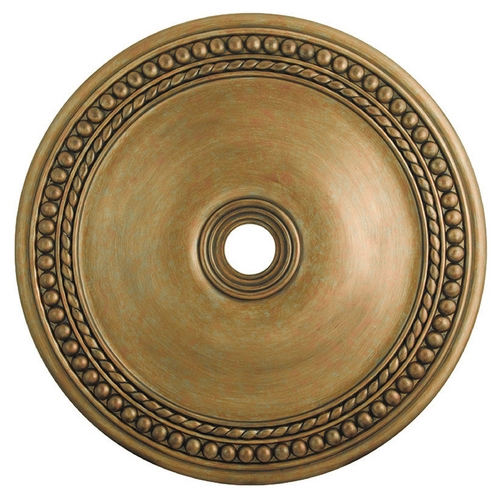 Livex Lighting Livex Lighting Wingate Hand Painted Antique Gold Leaf Ceiling Medallion 82078-48