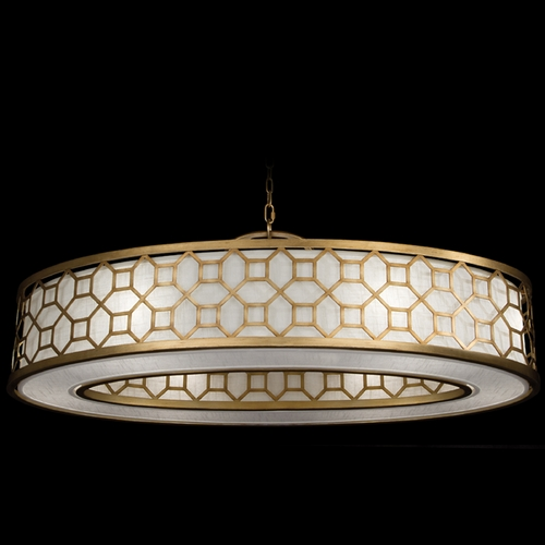 Fine Art Lamps Fine Art Lamps Allegretto Gold Burnished Gold Leaf with Subtle Brown Highlights Pendant Light with D 816640-2GU