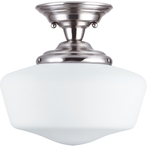 Sea Gull Lighting Sea Gull Lighting Academy Brushed Nickel LED Semi-Flushmount Light 7743791S-962